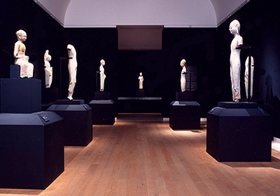 exhibition view, The Return of the Buddha, Royal Academy London