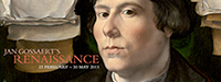 National Gallery web page header with portrait of Jan Gossaert