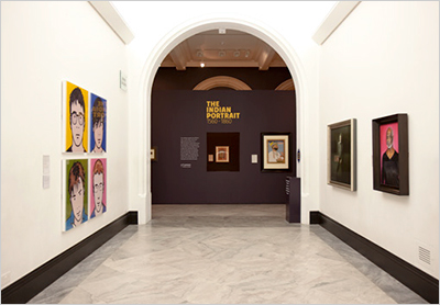 The Indian Portrait, exhibition entrance, National Portrait Gallery London,design by Calum Storrie