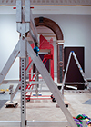 Royal Academy Byzantium exhibition under construction