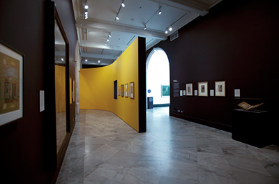 The Indian Portrait, gallery view, National Portrait Gallery London,design by Calum Storrie