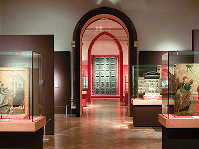 Royal Academy Byzantium exhibition, view of church gallery