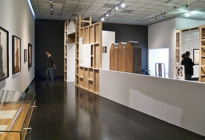 Exhibition view, Madness & Modernity, Wein Museum, design by Calum Storrie